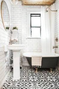 white and black tiles
