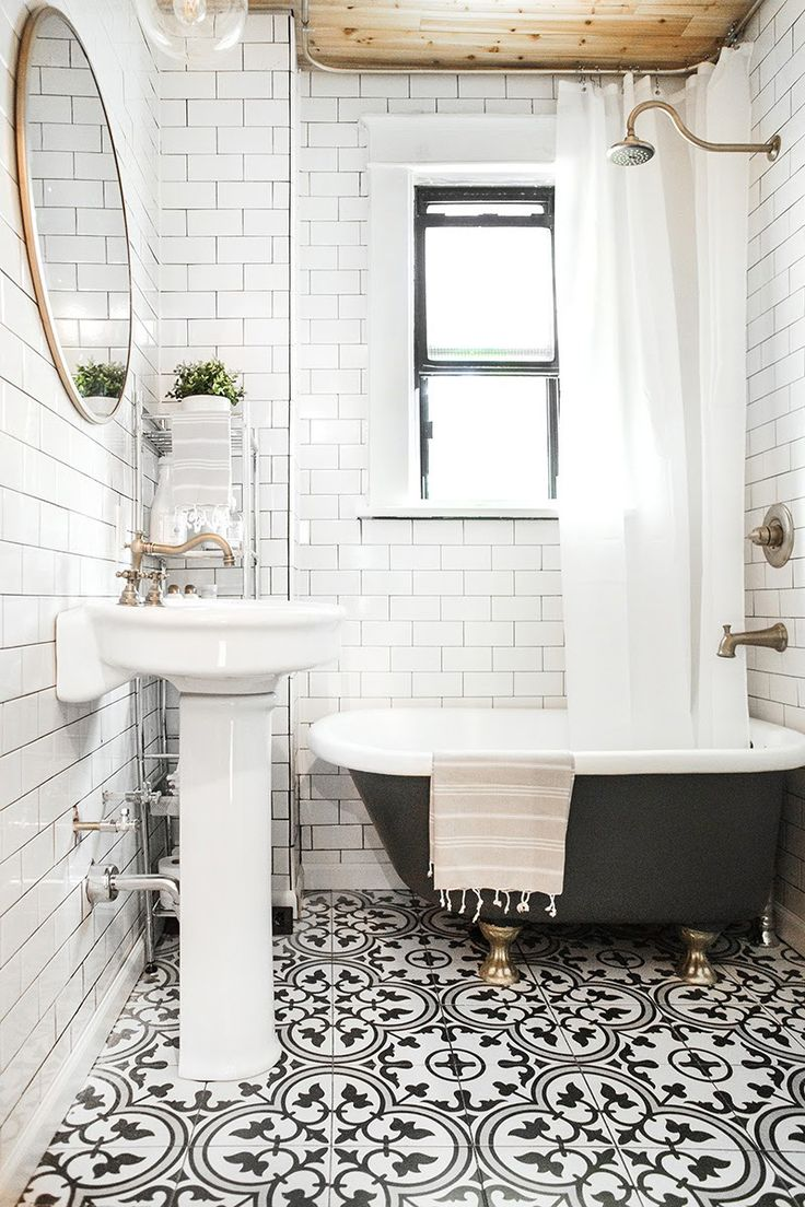 Superbe White And Black Tiles